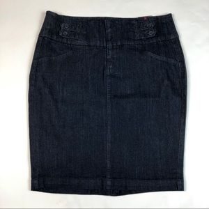 NWT Torrid Denim Pencil Skirt Tab Stretch